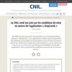 La CNIL rend son avis sur les conditions de mise en œuvre de l'application « StopCovid »