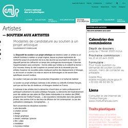 Conditions d'attribution du soutien pour une recherche artistique