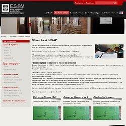 Conditions d'accès - ESAV - École Supérieure d'AudioVisuel - Université de Toulouse le Mirail