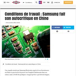 Conditions de travail : Samsung fait son autocritique en Chine