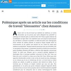 """Polémique après un article sur les conditions de travail """"blessantes"""" chez Amazon - Le Parisien"""
