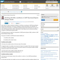 Working with BEx conditions in SAP BusinessObje...