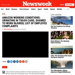 Amazon Working Conditions: Urinating in Trash Cans, Shamed to Work Injured, List of Employee Complaints