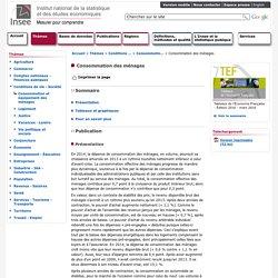 Conditions de vie-Société - Consommation des ménages