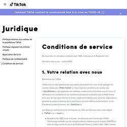 Conditions de services