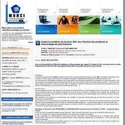 Emploi et conditions de travail en SSII : tour d'horizon des problèmes et désavantages les plus fréquents