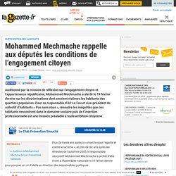 Mohammed Mechmache rappelle aux députés les conditions de l'engagement citoyen