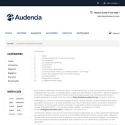 Conditions générales de vente - Audencia Boutique