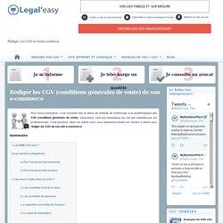 Rédiger les CGV (conditions générales de vente) de son e-commerce