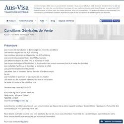 Aus-Visa.org - Conditions Générales de Vente
