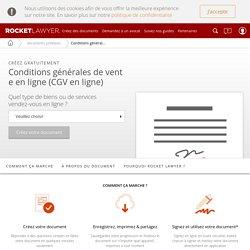 Conditions générales de vente en ligne (CGV)