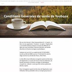 Conditions Générales de vente de Youboox