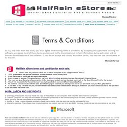 Sales Terms & Conditions - HalfRain Store
