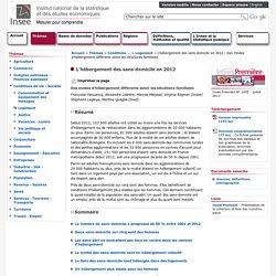 Conditions de vie-Société - L'hébergement des sans-domicile en 2012 - Des modes d'hébergement différents selon les structures familiales