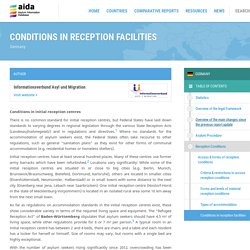 Conditions in reception facilities - Germany