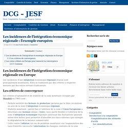 Les conditions de l'intégration économique régionale : l'exemple européen