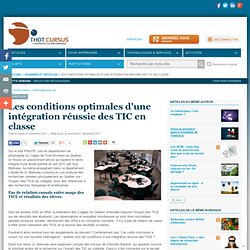Les conditions optimales d'une intégration réussie des TIC en classe
