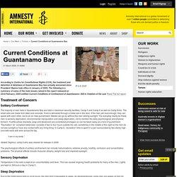 Current Conditions at Guantanamo Bay