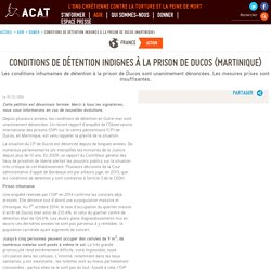 Conditions de détention indignes à la prison de Ducos (Martinique)