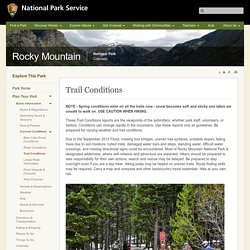 Trail Conditions - Rocky Mountain National Park