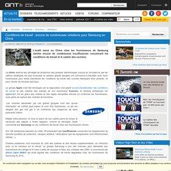 Conditions de travail : encore de nombreuses violations pour Samsung en Chine