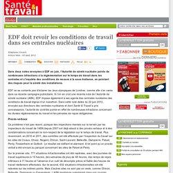 EDF doit revoir les conditions de travail dans ses centrales nucléaires