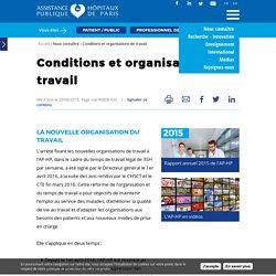 Conditions et organisations de travail