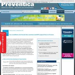 Les conditions de travail des ouvriers du BTP aujourd'hui en France - Management SST