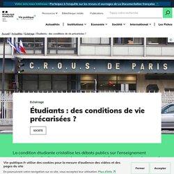 Étudiants : des conditions de vie précarisées ? / Vie publique.fr, Septembre 2020