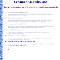 Conditions de réalisation 6