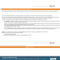 Quelles sont les conditions pour obtenir un remboursement de crédit de TVA ?