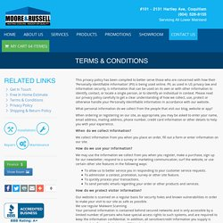 Terms & Conditions - Moore and Russell Heating