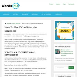 How To Use If Conditions in Sentences - WordsRU