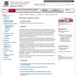 Conditions de vie-Société - Les jeux d'argent en France