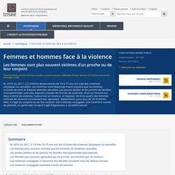 Conditions de vie-Société - Femmes et hommes face à la violence
