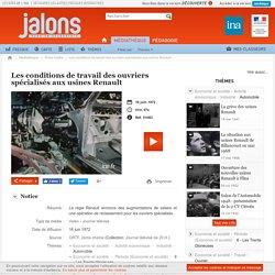 Les conditions de travail des ouvriers spécialisés aux usines Renault