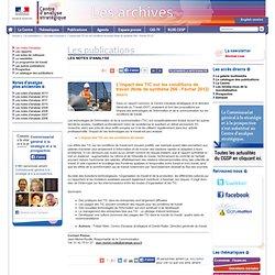 L'impact des TIC sur les conditions de travail (Note de synthèse 266 - Février 2012