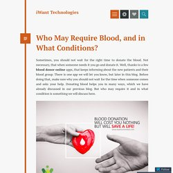 Register with iWant Blood Donation App and Save Life