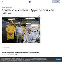 Conditions de travail : Apple de nouveau critiqué