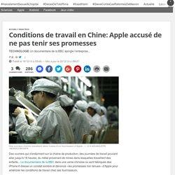 Conditions de travail en Chine: Apple accusé de ne pas tenir ses promesses
