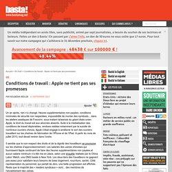 Conditions de travail : Apple ne tient pas ses promesses