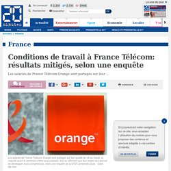 Conditions de travail à France Télécom: résultats mitigés, selon une enquête