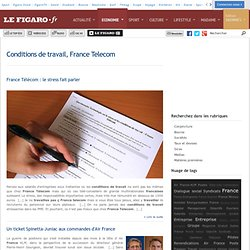 Conditions de travail, France Telecom -