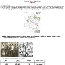 Les conditions de travail au XIXème siècle
