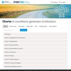 Charte et conditions générales d'utilisation