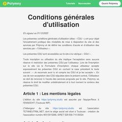 - Conditions générales d'utilisation