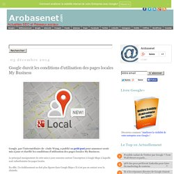 Google durcit les conditions d'utilisation des pages locales My Business