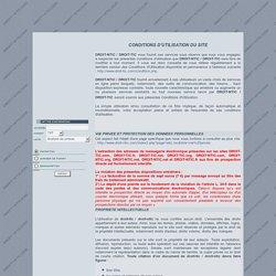 conditions utilisation DROIT-TIC - Droit-ntic