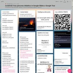 Condividi il tuo percorso didattico in Google Slides o Google Tour