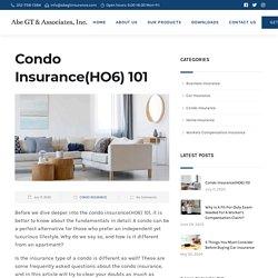Condo Insurance(HO6) 101